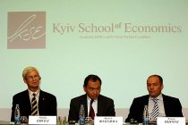 10th anniversary of the international education consortium EERC with the presentation of Kiev School of Economics (KSE) and public lectures by doctor Francis Fukuyama and Nobel Prize winner doctor Robert Engle
