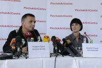 Press conference of Andreas Gursky and Julia Stoschek in the PinchukArtCentre. September 26, 2008.
