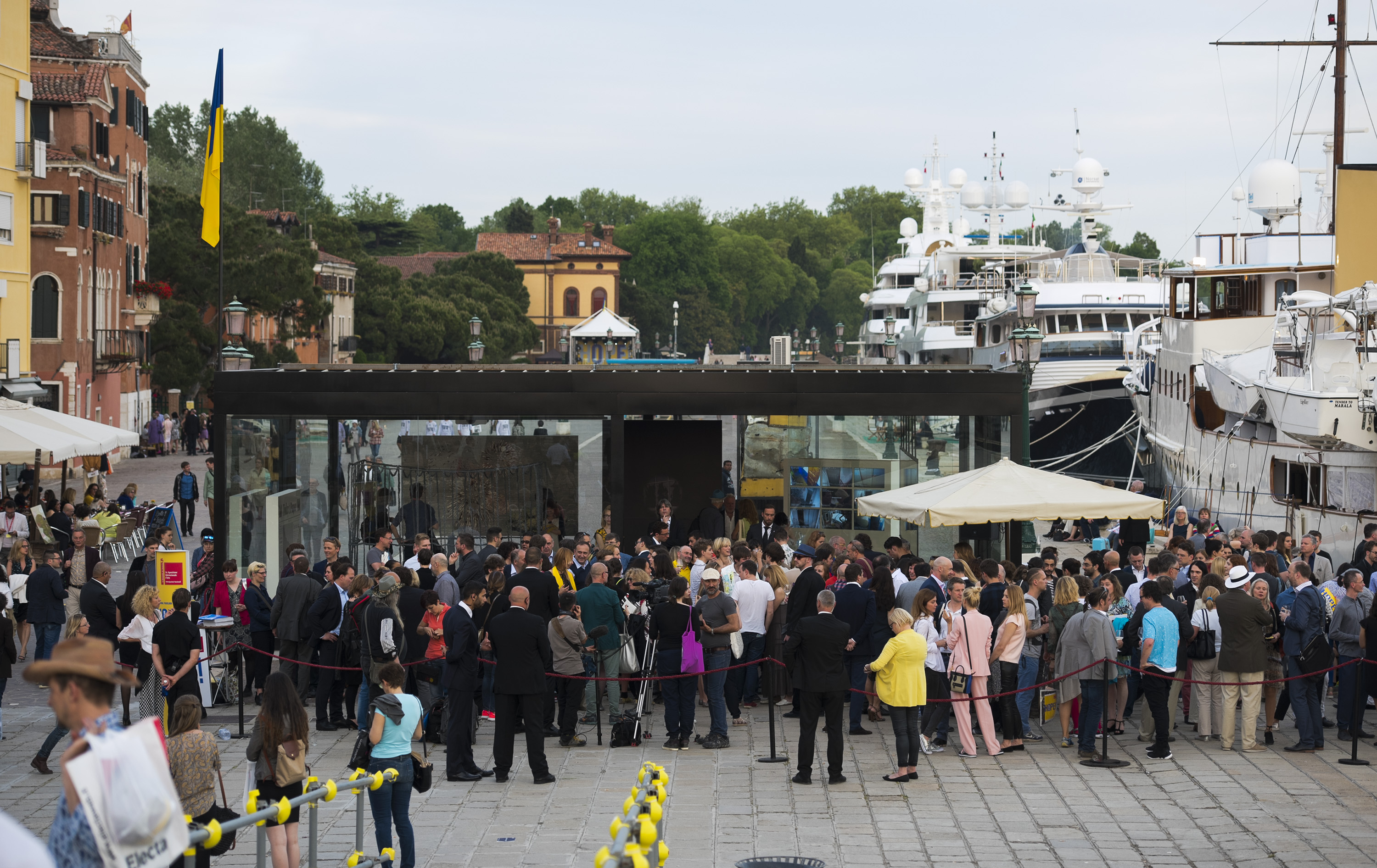 "Official opening of ""Hope!"", the Pavilion of Ukraine at the 56th International Art Exhibition – la Biennale di Venezia, and ""Okean Elzy"" concert"