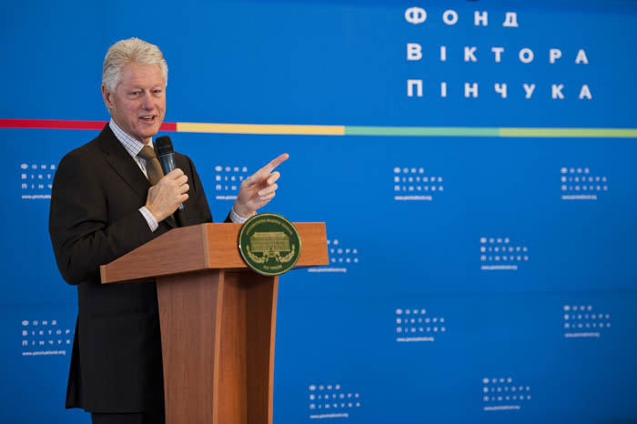 Public lecture of the 42nd President of the United States William Jefferson Clinton with Ukrainian students